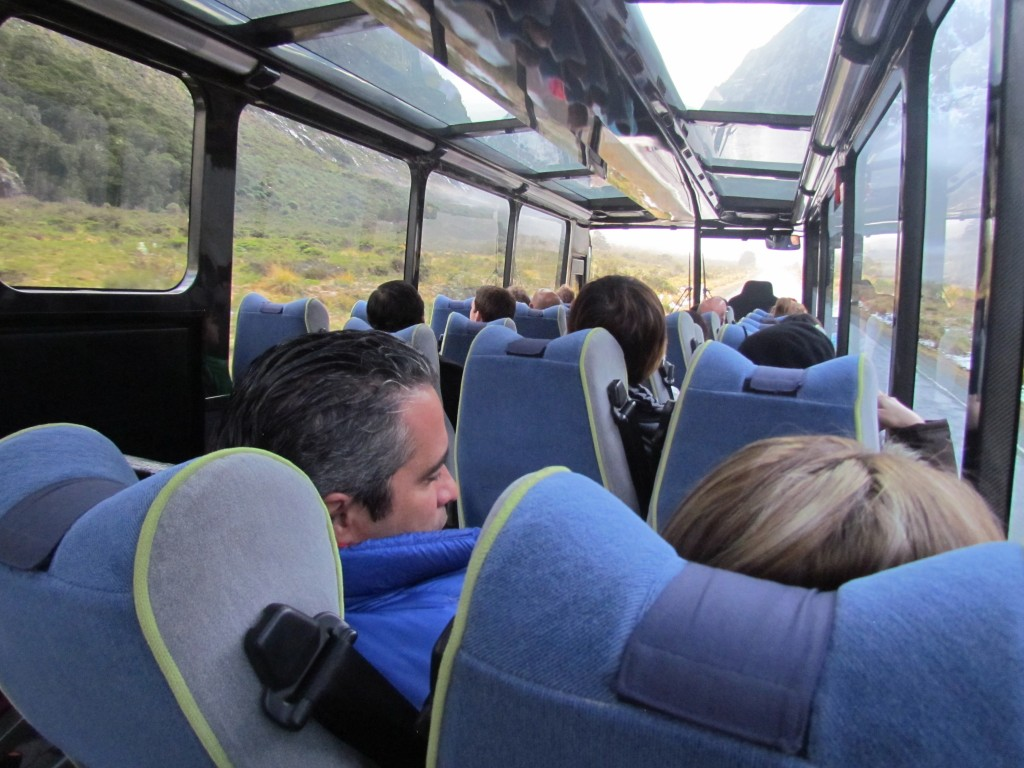 Milford Sound with Real Journeys - the bus