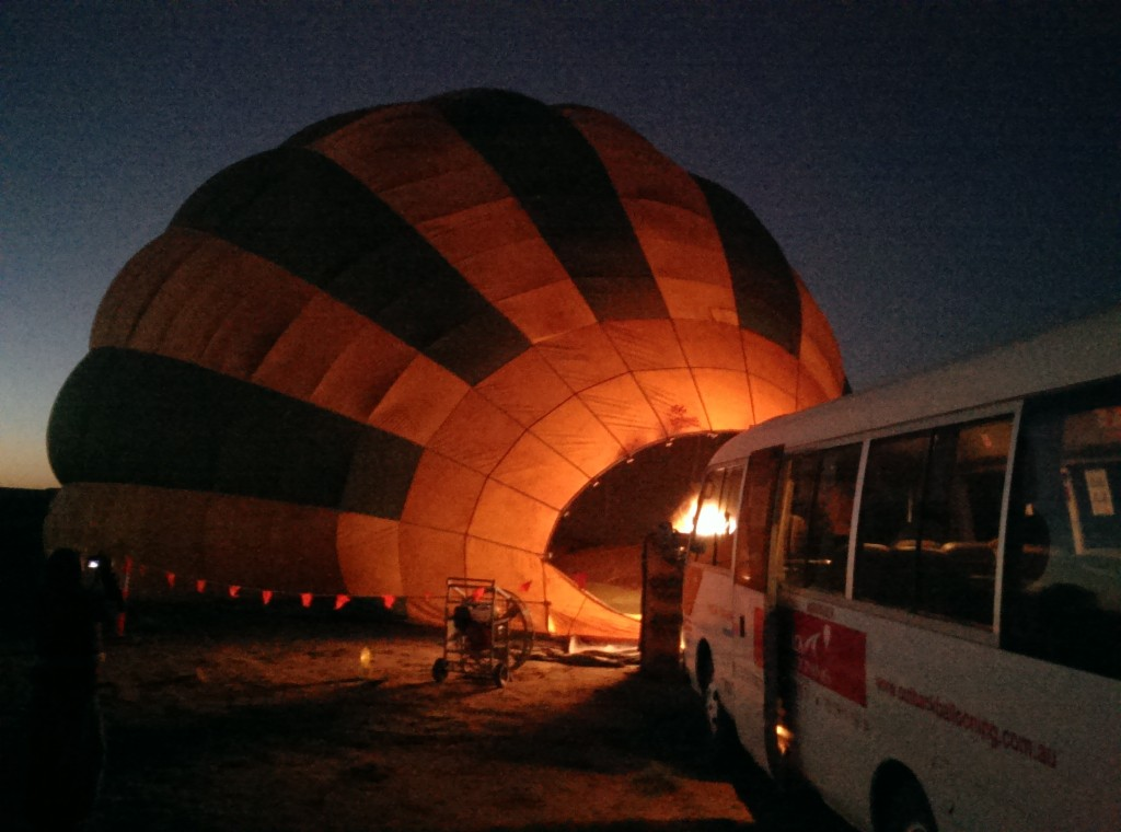 Outback Ballooning in Alice Springs - pitch black
