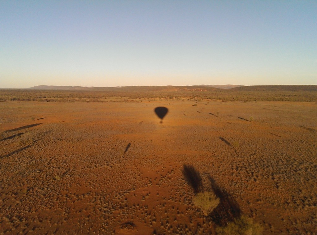 Outback Ballooning in Alice Springs - shadow