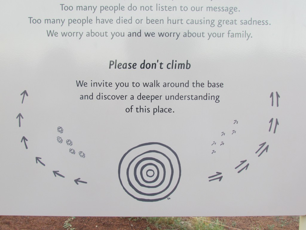 Ayers Rock Facts - don't climb