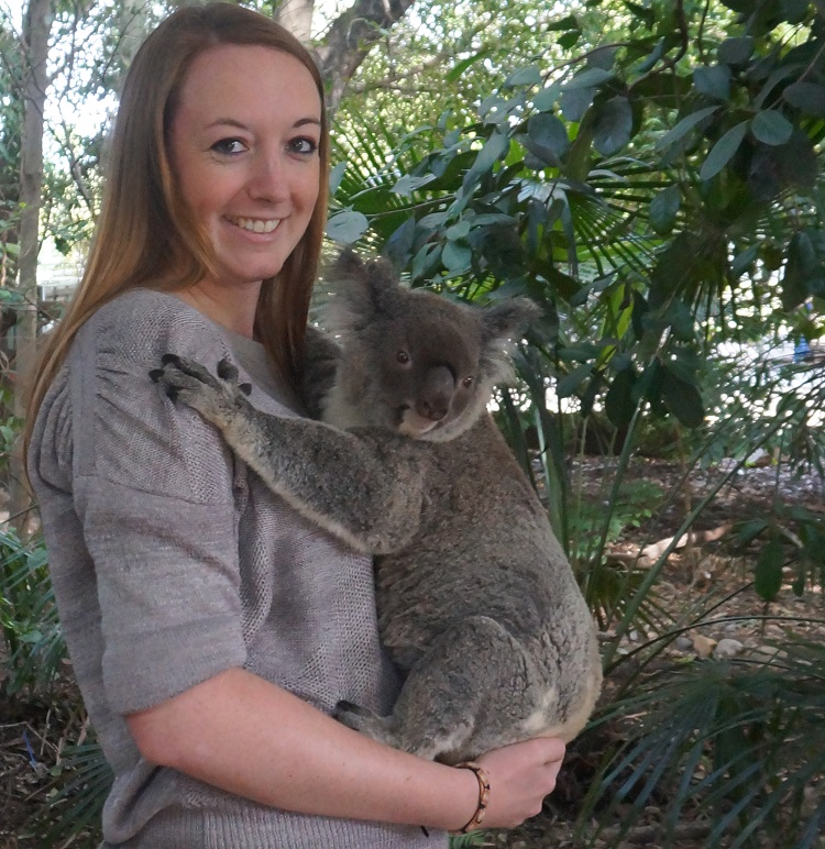 Lone Pine Koala Sanctuary - koala cuddle
