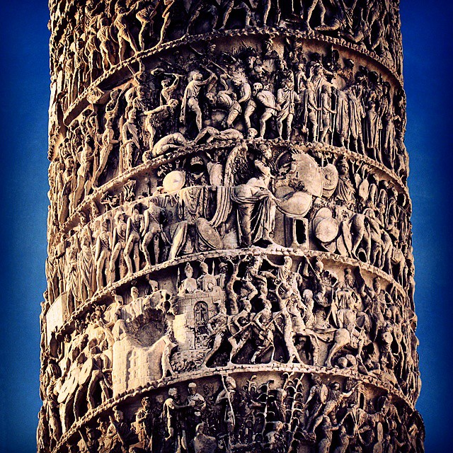 Rome's incredibly intricate Column of Marcus Aurelius. #europeanencounter #pillar #column…