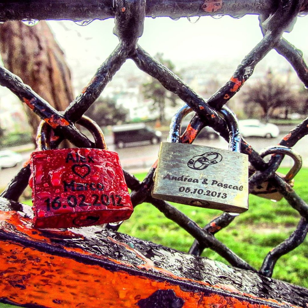 Love locks at the Sacre Coeur travel travelling travelblog travelgramhellip