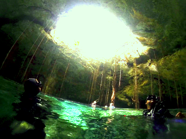 Cenote Diving in Mexico - Diving The Pit and the Taj Mahal - a cenote