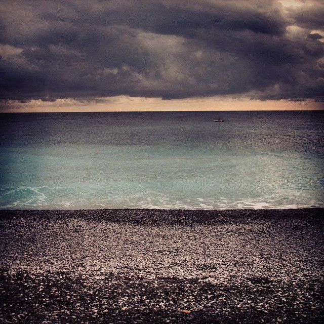 A storm rolling in over the ocean nice france francaishellip