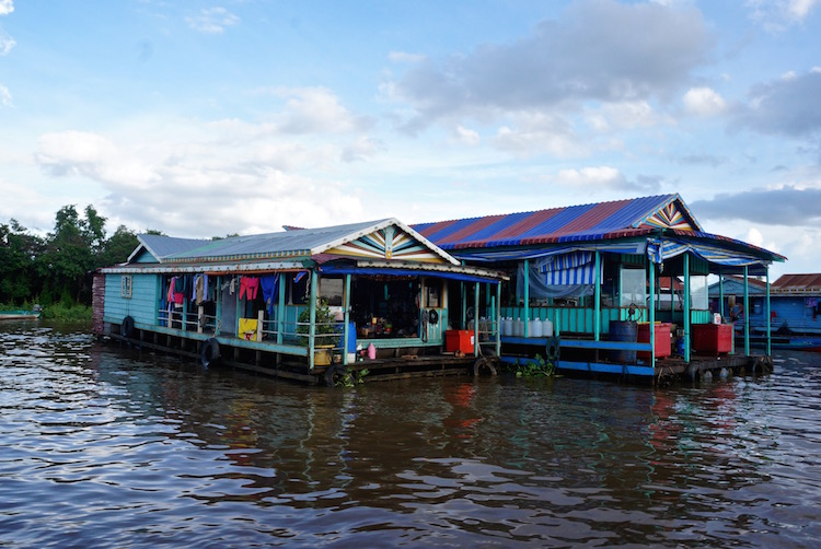 Floating Villages on Tonle Sap Lake - Floating Houses