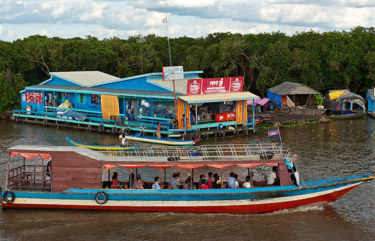 Floating Villages on Tonle Sap Lake - Floating Supermarket