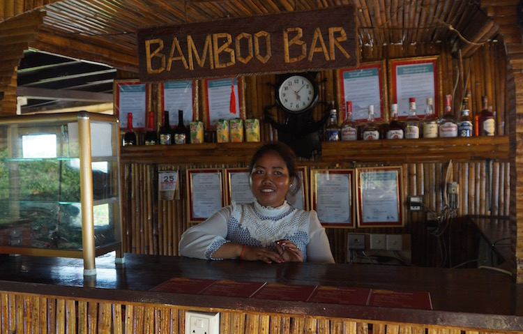 Floating Villages on Tonle Sap Lake - Bamboo Bar