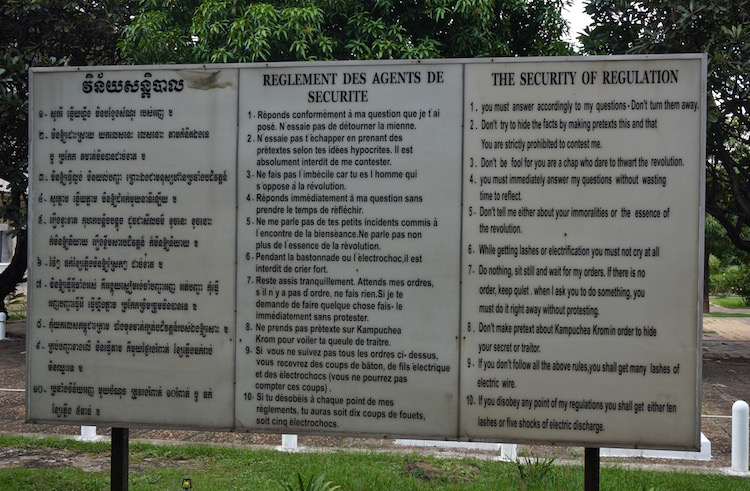 S21 and the Killing Fields - Rules for Prisoners of S21