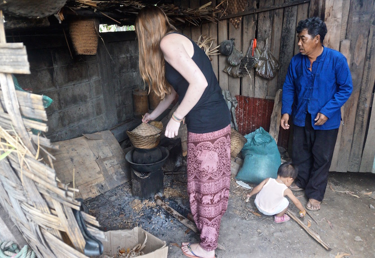 Backstreet Academy - Luang Prabang, Laos - Rice Wine Making - Cooking on the Stove