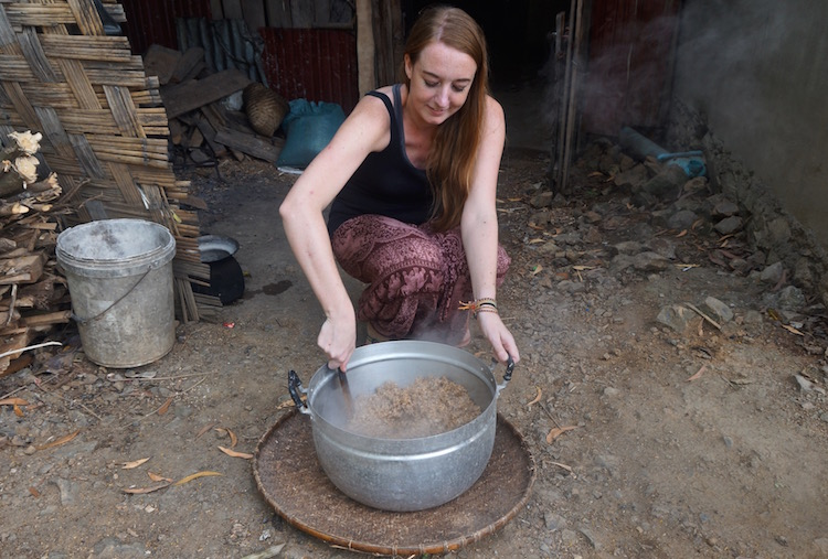 Backstreet Academy - Luang Prabang, Laos - Rice Wine Making - Stirring