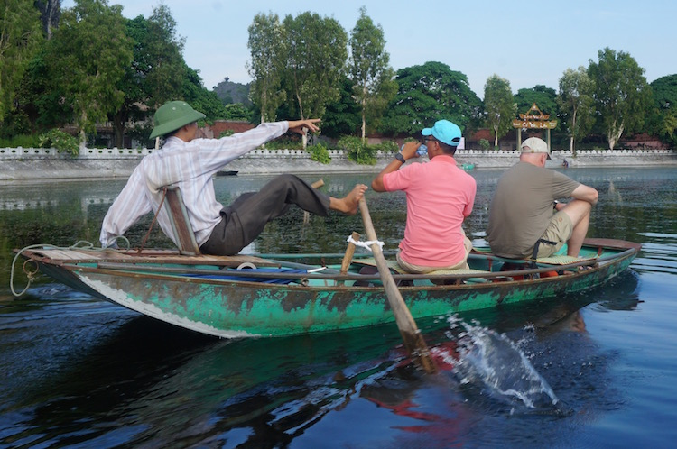 Day Tour to Tam Coc - Rowing with Feet