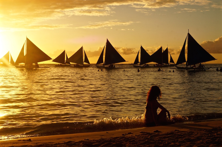 New Year's Eve in Boracay - Sunset