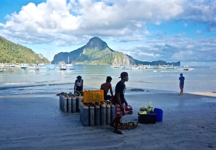 Scuba Diving in El Nido with Palawan Divers - Sunrise on El Nido Beach