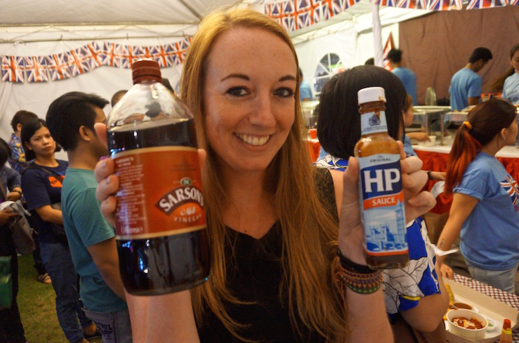 Great British Festival in Manila - Sarson's Vinegar and HP Sauce