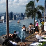 Visiting the Infinity Pool at Marina Bay Sands Hotel