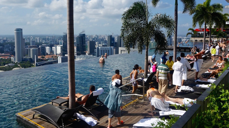 Visiting The Infinity Pool At Marina Bay Sands Hotel Beyond Blighty