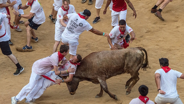 Best Festivals in Europe - Running of the Bulls - Stoke Travel