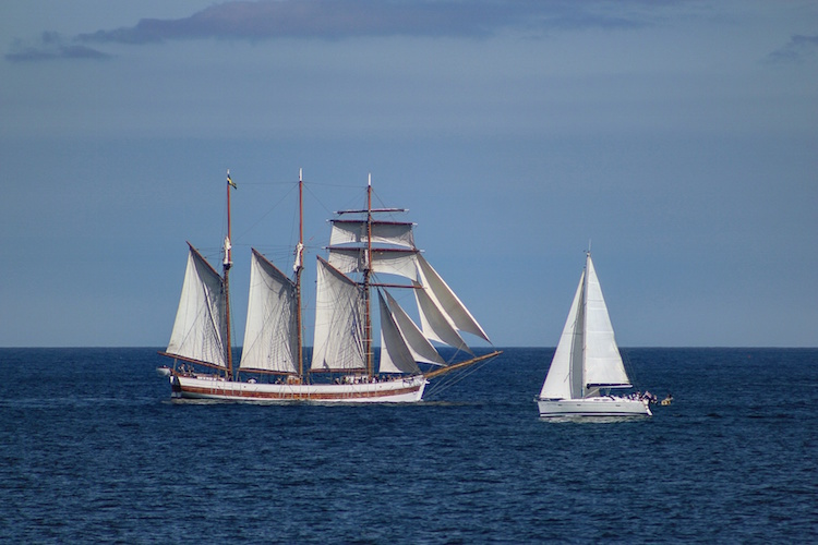 Tall Ships Regatta Blyth 2016 - Sail By From Seaton Sluice