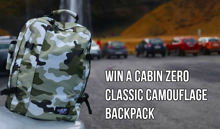 CabinZero Luggage Review - Win a CabinZero Classic Camouflage Backpack