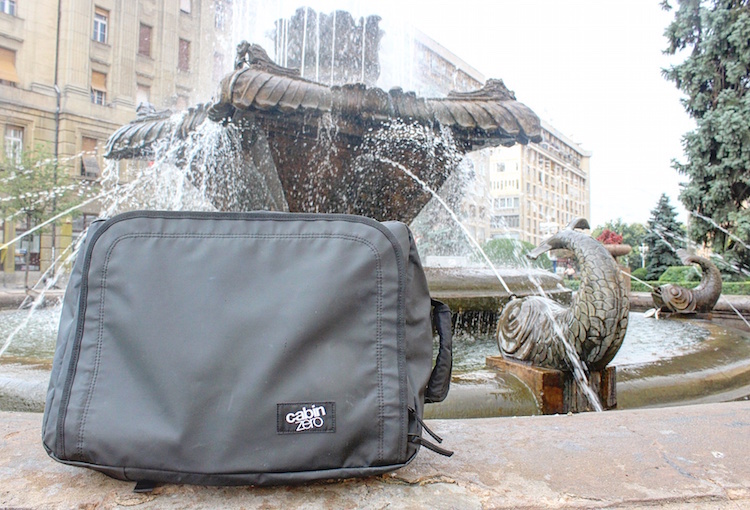 CabinZero - Urban Carry-On - Waterfall in Timisoara