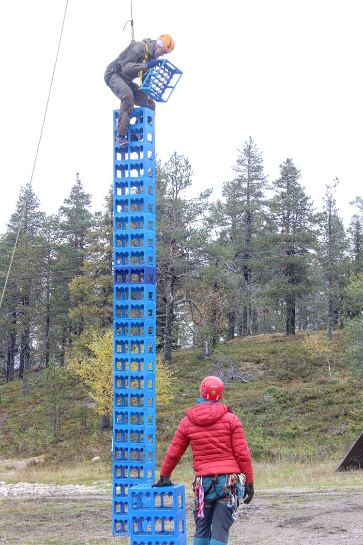 Autumn Adventure Activities in Kuusamo - Crate Stacking